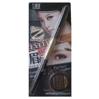 Landbis Eyeliner & Brush, Eyebrow Cream 3 in 1 03 Brown
