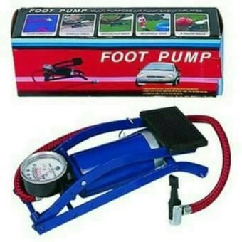 Universal - foot pump Pompa Angin Manual Kaki Injak Mobil Sepeda Motor