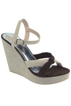 Catenzo Sandal Wedges Wanita - Cream