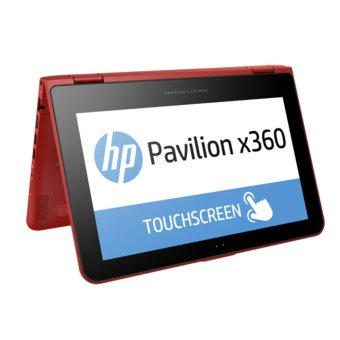 "HP Pavilion X360 Convertible 11-K027TU – 11.6"" - N3050 - 4GB - 500GB - Intel HD Graphics - Win 8.1 - Toouch Screen - Sunset Red"