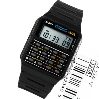 Casio CA-53W Jam Tangan Calculator - Hitam