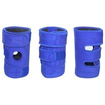Velishy Adjustable OK cloth Open Cap Patella Knee Support Pad Strap Brace Stabilizer Blue