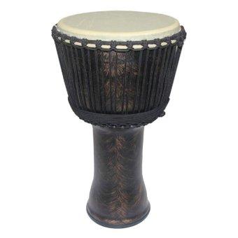 Drum Factory Djembe, Jimbe, R: 33 Cm, T: 59 Cm. Perkusi Drum Alat Musik - Cokelat