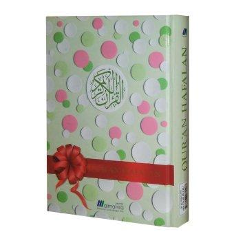 Almahira Quran Hafalan -Cover Polkadot (Hijau Muda)