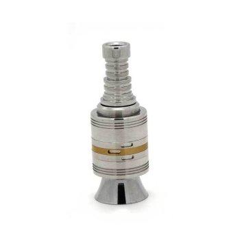RajaClone Helix RDA Rebuildable Drip Atomizer Steel Gold 18650 1:1 Clone Personal Vaporizer