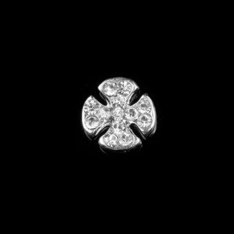 10pcs Crystal Rhinestone Alloy Nail Art Tips Glitters Decoration Clover (Intl)