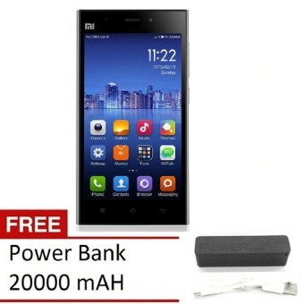 Xiaomi Mi3 - 16 GB - Putih + Gratis Power Bank 20000mAH