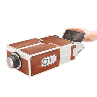 Sunweb Fun 2.0 Cinema Mini Smart Phone Projector Cardboard/Diy Mobile Phone Projector Portable Cinema (Brown) (Intl)