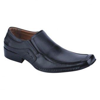 Aleganza Sepatu Kulit Formal Kerja Kuliah Pria - Hitam