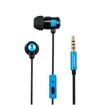In-ear Earphone Magic High Definition 3.5mm Audio Jack Bass+ Sound Wire Control with Microphone (Blue) - Intl