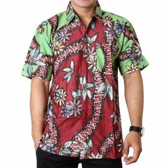 Kemeja Batik Slimfit Pria B8305 Kombinasi Muslim Koko Jeans Source Batik Distro K6518 .