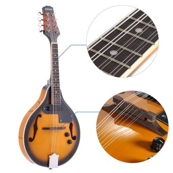 ammoon A-Style Electric Mandolin Basswood Body Rosewood Bridge Fingerboard 8 Strings with EQ Gig Bag Outdoorfree (Intl)