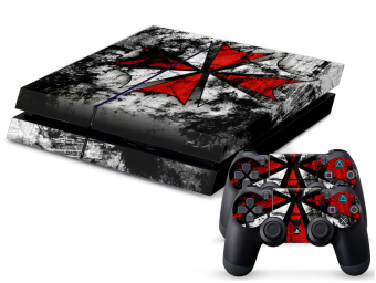 Resident Evil Custom Skins for Playstation 4 PS4 Console + 2 Controller Stickers (Intl)