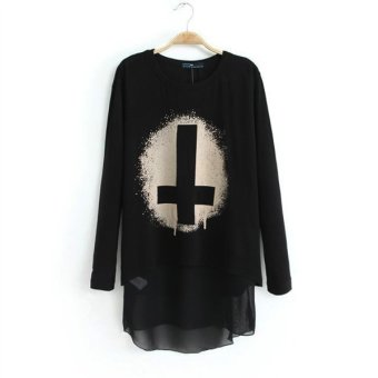 Feelontop O-Neck Regular Woman's Full Pockets Shirts Clothing In Fashion Designer For Girls (Intl)