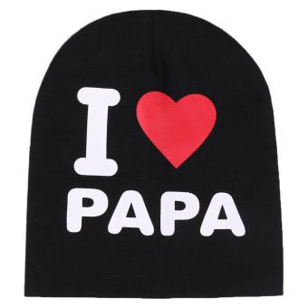 harga Newbaby hat kids caps infant Cotton children Beanies Cap Toddler Boys & Girls baby Hat-Black - Intl Lazada.co.id