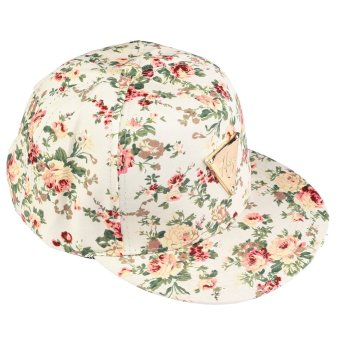 Colorful small floral cotton adjustable flat brimmed hat baseball cap - Intl
