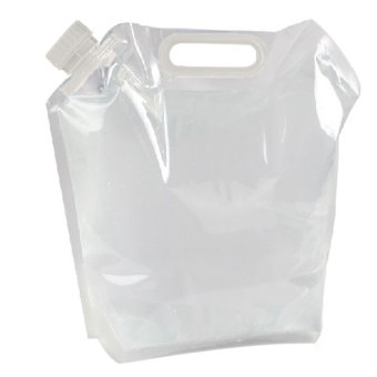 HKS Portable Folding Water Bag Camping Survival Kit Supply 5L (Clear) (Intl)