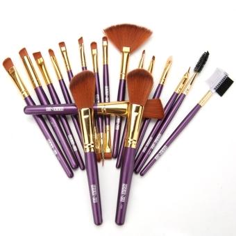 Jo.In Makeup 19pcs Brushes Set Powder Foundation Eyeshadow Eyeliner Lip Brush Tool Kit (Purple)