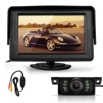 UJS Generic TFT LCD Car Rear View Reverse Monitor/Wireless Transmitter/7 LED IR Camera 4.3-Inch - Intl