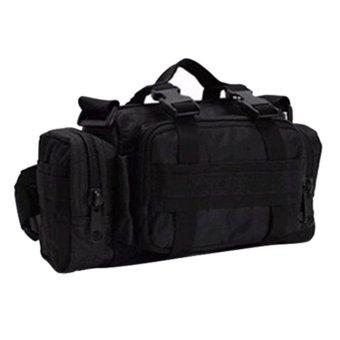 360DSC Outdoor Military Rucksacks Tactical 3P Magic Pockets Camping Hiking Waist Bags - Black (Intl)