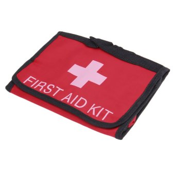 Allwin 2L First Aid Kit Camping Emergency Survival Bag Foldable Bandage Travel red - Intl