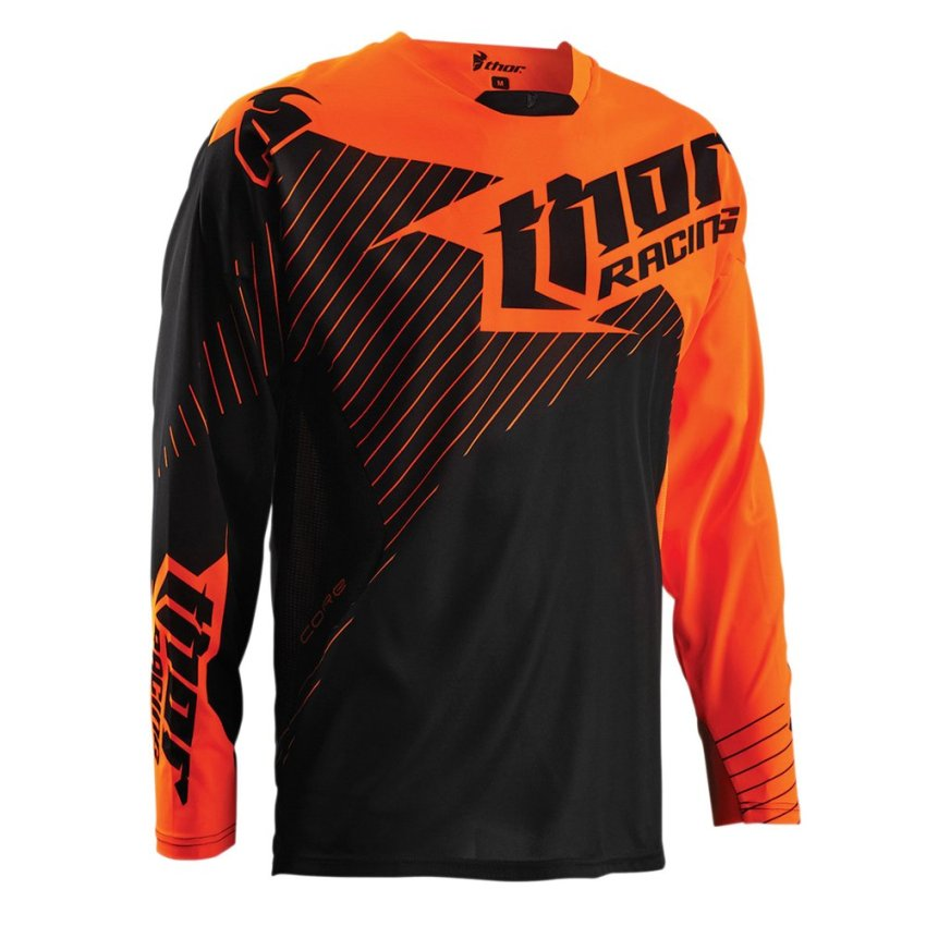 Thor Jersey Orange Hitam / Motor Cross / Offroad / Adventure / Sport Bikes - Oranye
