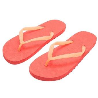 LALANG Fashion Women Men Flip Flops Beach Non-slip Luminous Slippers (Red)- Intl