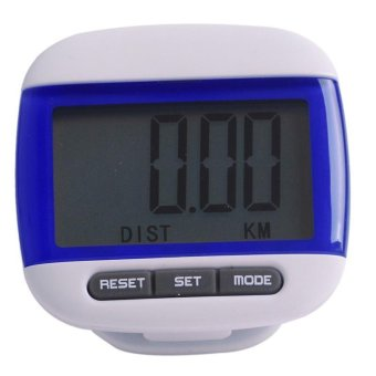 Ai Home LCD Multifunction Pedometer Walking Step Distance Calorie Calculator (Blue) - Intl