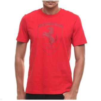 Puma T-shirt Ferrari Big Shield - 56936402 - Merah