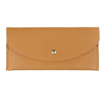 Candy Colors Envelope Slim Design Leather Wallet (Khaki)