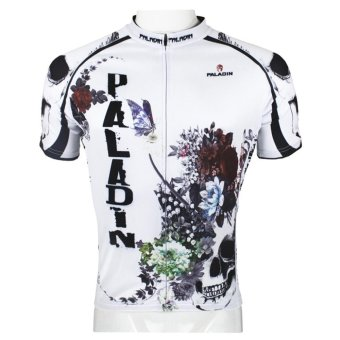 PALADIN SPORT Cycling Men's Short Sleeve Jersey (White) (Intl)