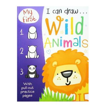 Genius Buku Anak Genius My First I Can Draw Wild Animals With Pull - Out Practice Pages