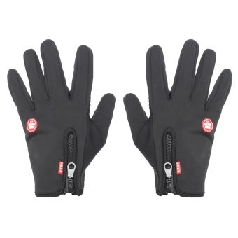 Windproof Touch Screen Outdoor Sport Gloves Ski Men Unisex Winter Warm Mittens L Black (Intl)