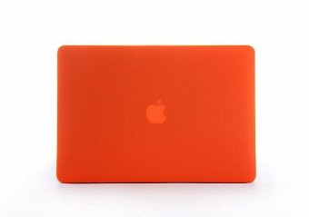 Forito Soft-Touch Plastic Hard Case Cover for Macbook Air 11, (Models: A1370 and A1465) (Orange) - Intl