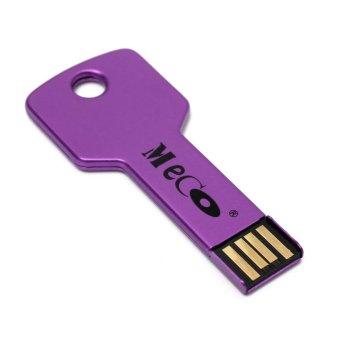 10PCS MECO 4G GB Metal Colorful Key Design USB 2.0 Memory Flash Drive Thumb Pen Stick Purple - INTL