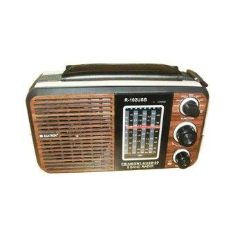 Asatron Radio R-102USB -Cokelat