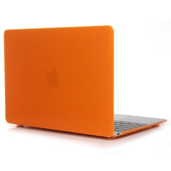 Laptop Hard Case For Apple MacBook Pro 15.4 Inch Crystal Protective Cover Case(Orange) - Intl