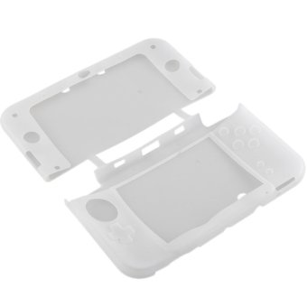 Aukey Soft Silicone Gel Protector Case For Nintendo 3DS XL LL (White)