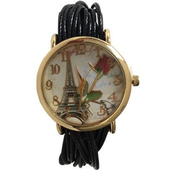 harga Ormano - Jam Tangan Wanita - Hitam - Strap Leather - Felita Paris Vintage Watch Lazada.co.id