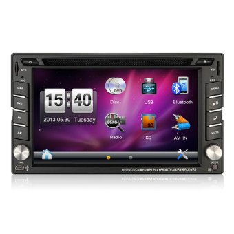 2 Din Universal Car Radio Double In Dash Car Dvd Player With GPS Navigation (Intl)