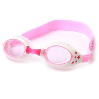 Children Kids Silicone Headband Waterproof Anti Fog UV Protection Swimming Swim Goggles with Earplugs and Case Pink - Intl