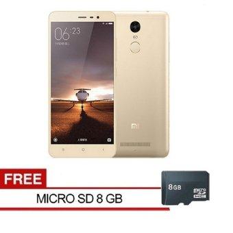 Xiaomi Redmi 3 Pro 4G - 32GB - Gold + Free MMC 8GB