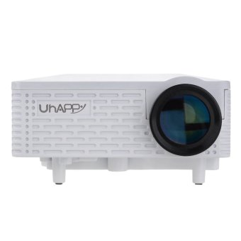 Uhappy U18 Office and Home Use Portable Mini Video Projector for Android and iOS EU Plug (White) (Intl)