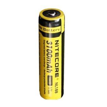 NITECORE 18650 Rechargeable Li-ion Battery 3100mAh 3.7V - NL188 - Kuning terpercaya