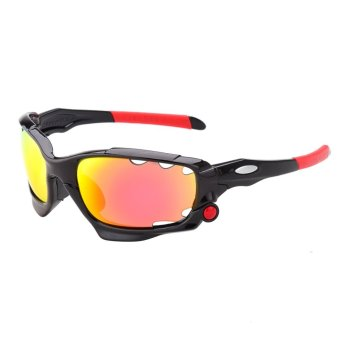 Screw Cycling Bicycle Bike UV400 Protection Goggle Sun Glasses Sport Sunglasses With 3 Lenses 042-C4 (Intl)