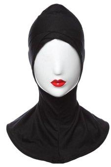 Muslim Under Scarf Inner Cap Hat Hijab Neck Cover Headwear (Black) - INTL