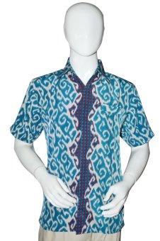 Batik Adikusuma Kemeja Panjang Batik Pria - Akar Rambat - Biru
