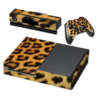 Aukey Leopard Print Full Body Sticker for Xbox One Console Anti-Dust (Brown)