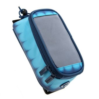GoSport ROSWHEEL Bicycle Cycling Front Waterproof Touch Screen Mobile Phone Bag (Dark Blue)