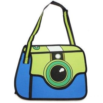 3D Cartoon Comics Camera Shoulder Bag (Yellow) - Intl
